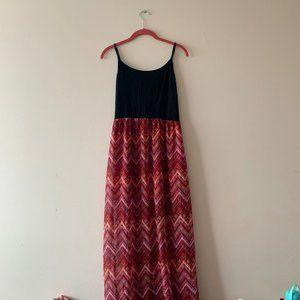 Summer Maxi Dress Chevron